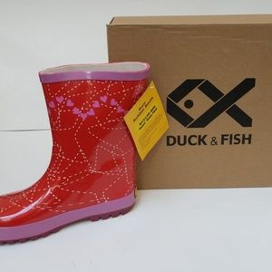 Duck and Fish Kids Rain Girls Boots